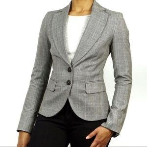 Sisley Checkered Tailored Fit 2-Button Blazer